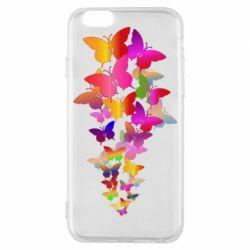 Чохол для iPhone 6/6S Rainbow butterflies