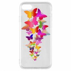 Чохол для iPhone 8 Rainbow butterflies