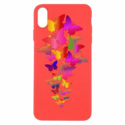 Чохол для iPhone X/Xs Rainbow butterflies
