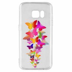 Чохол для Samsung S7 Rainbow butterflies
