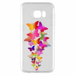 Чохол для Samsung S7 EDGE Rainbow butterflies
