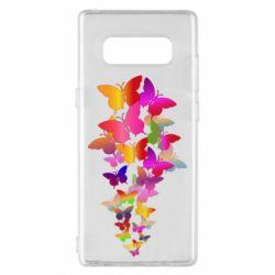 Чохол для Samsung Note 8 Rainbow butterflies