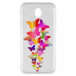 Чохол для Samsung J7 2017 Rainbow butterflies