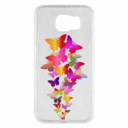 Чохол для Samsung S6 Rainbow butterflies