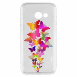 Чохол для Samsung A3 2017 Rainbow butterflies