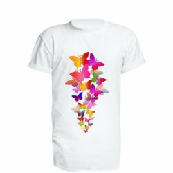 Подовжена футболка Rainbow butterflies