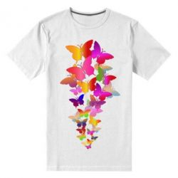 Чоловіча стрейчева футболка Rainbow butterflies