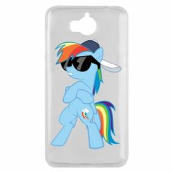 Чохол для Huawei Y5 2017 Rainbow Dash Cool - FatLine