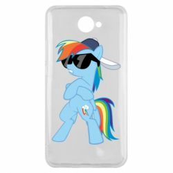 Чохол для Huawei Y7 2017 Rainbow Dash Cool - FatLine