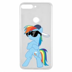 Чохол для Huawei Y7 Prime 2018 Rainbow Dash Cool - FatLine