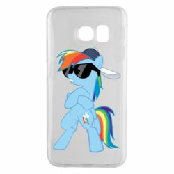 Чохол для Samsung S6 EDGE Rainbow Dash Cool - FatLine