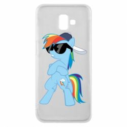 Чохол для Samsung J6 Plus 2018 Rainbow Dash Cool - FatLine