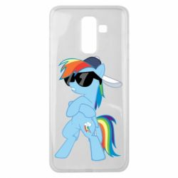 Чохол для Samsung J8 2018 Rainbow Dash Cool - FatLine