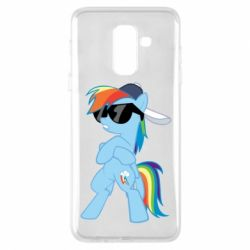 Чохол для Samsung A6+ 2018 Rainbow Dash Cool - FatLine