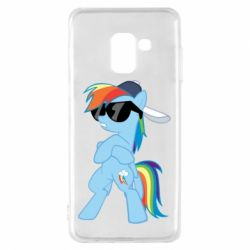 Чохол для Samsung A8 2018 Rainbow Dash Cool - FatLine