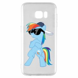 Чохол для Samsung S7 EDGE Rainbow Dash Cool - FatLine