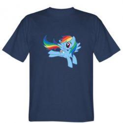 Мужская футболка Rainbow Dash run - FatLine