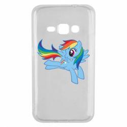 Чохол для Samsung J1 2016 Rainbow Dash run - FatLine