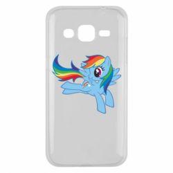 Чохол для Samsung J2 2015 Rainbow Dash run - FatLine