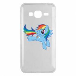 Чохол для Samsung J3 2016 Rainbow Dash run - FatLine