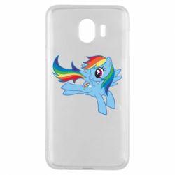 Чохол для Samsung J4 Rainbow Dash run - FatLine