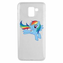 Чохол для Samsung J6 Rainbow Dash run - FatLine