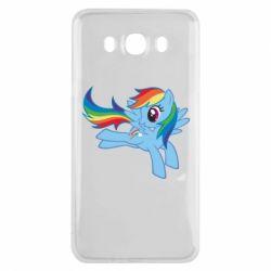 Чохол для Samsung J7 2016 Rainbow Dash run - FatLine