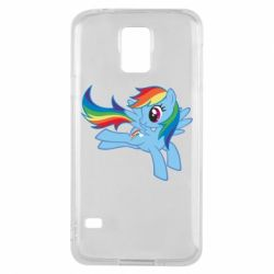 Чохол для Samsung S5 Rainbow Dash run - FatLine