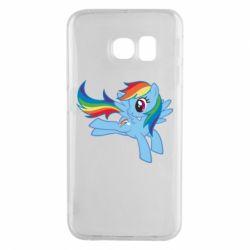Чохол для Samsung S6 EDGE Rainbow Dash run - FatLine