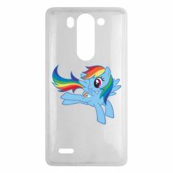 Чохол для LG G3 Mini/G3s Rainbow Dash run - FatLine