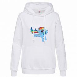 Толстовка жіноча Rainbow Dash run - FatLine