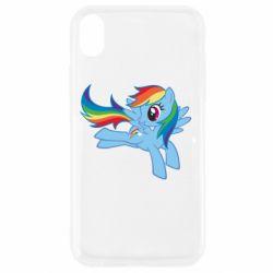 Чохол для iPhone XR Rainbow Dash run - FatLine
