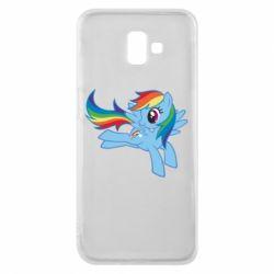 Чохол для Samsung J6 Plus 2018 Rainbow Dash run - FatLine