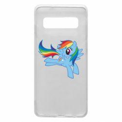 Чохол для Samsung S10 Rainbow Dash run