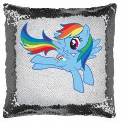 Подушка-хамелеон Rainbow Dash run