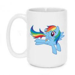Кружка 420ml Rainbow Dash run - FatLine