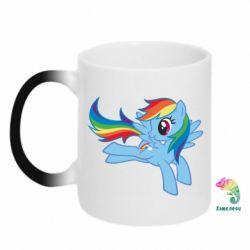 Кружка-хамелеон Rainbow Dash run - FatLine