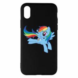Чохол для iPhone X Rainbow Dash run - FatLine