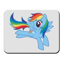 Килимок для миші Rainbow Dash run - FatLine