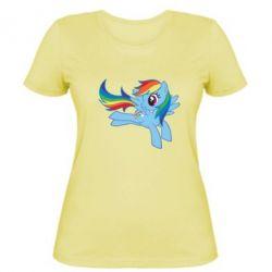 Жіноча футболка Rainbow Dash run - FatLine