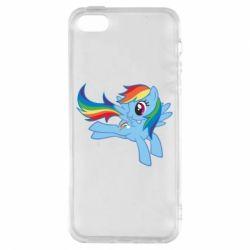 Чохол для iphone 5/5S/SE Rainbow Dash run - FatLine