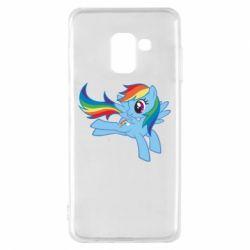Чохол для Samsung A8 2018 Rainbow Dash run - FatLine
