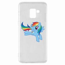 Чохол для Samsung A8+ 2018 Rainbow Dash run - FatLine