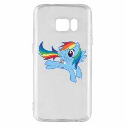 Чохол для Samsung S7 Rainbow Dash run - FatLine