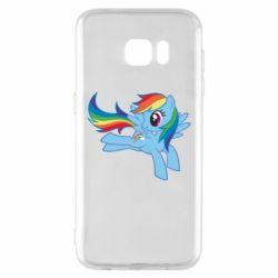 Чохол для Samsung S7 EDGE Rainbow Dash run - FatLine