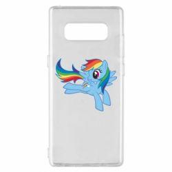 Чохол для Samsung Note 8 Rainbow Dash run - FatLine