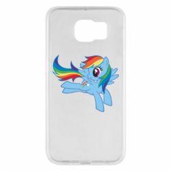 Чохол для Samsung S6 Rainbow Dash run - FatLine
