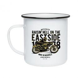 Кружка емальована Raisin Hell Moto Racer