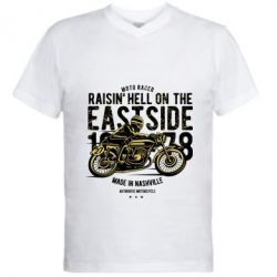Чоловіча футболка з V-подібним вирізом Raisin Hell Moto Racer