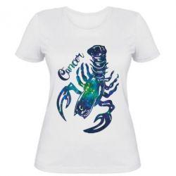 Женская футболка Рак звезды